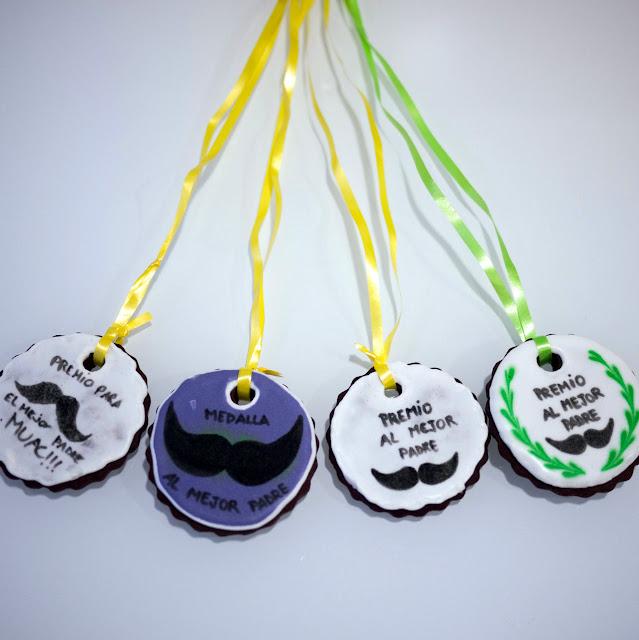 Medallas de galleta para papá