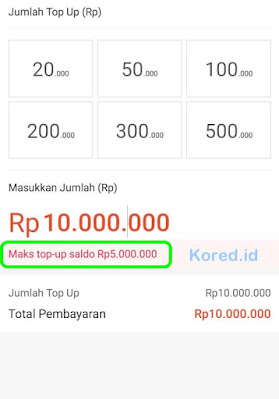 Batas maksimal top up shopeepay di Indomaret