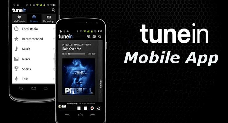 TuneIn Radio Mobile App