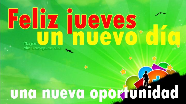 Tarjeta de feliz jueves con mensaje de nueva oportunidad
