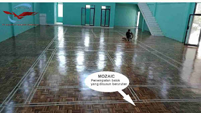 motif lantai kayu mozaic