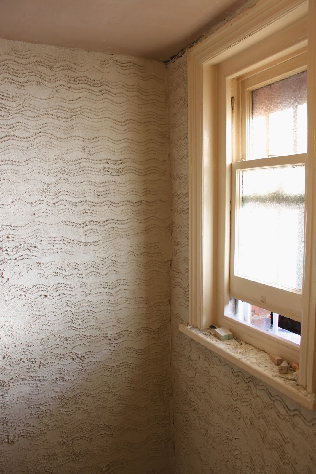 When The Lime Finish Plaster Is Laid It Takes Several Weeks Drying Out  Before Decoration Can Take Place.