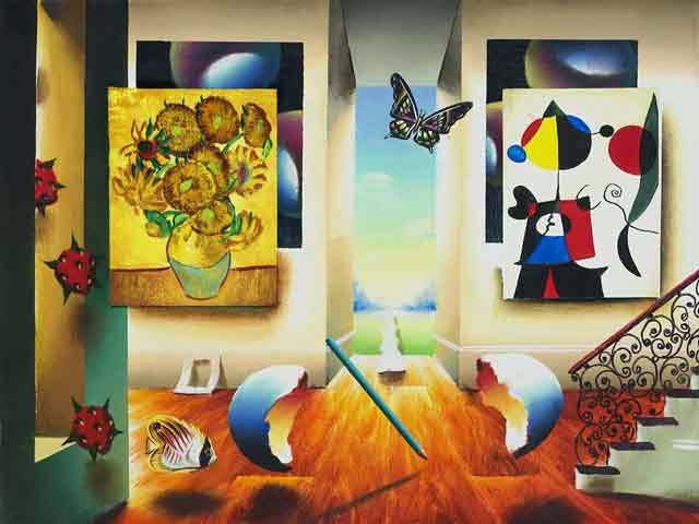 Miró e Girassóis - Ferjo e suas pinturas ~ O artista da pintura dentro de outra