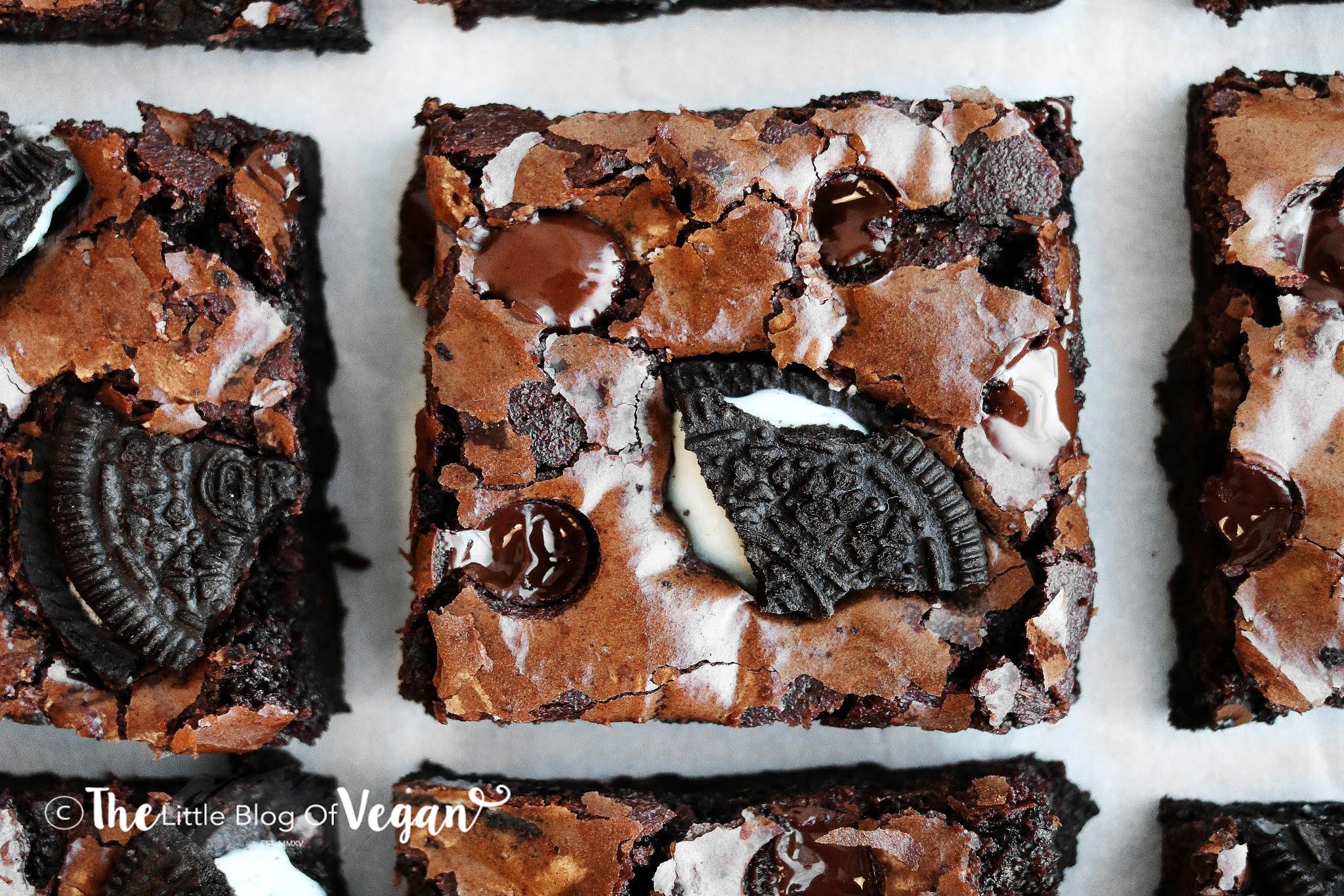 Vegan Crinkle Brownies