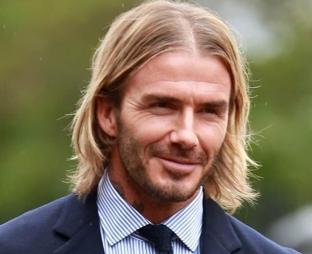 David Beckham Middle Part Hairstyle