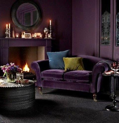 eggplant sofa sleeper dimensions eye for design: decorating with aubergine/eggplant