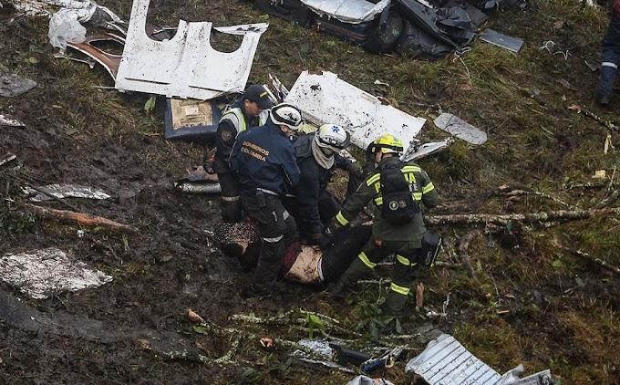 Imagens do avião e dos primeiro socorros mostram dimensão da tragédia na Colômbia