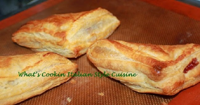Puff Pastry Red Raspberry Turnover Recipe What S Cookin