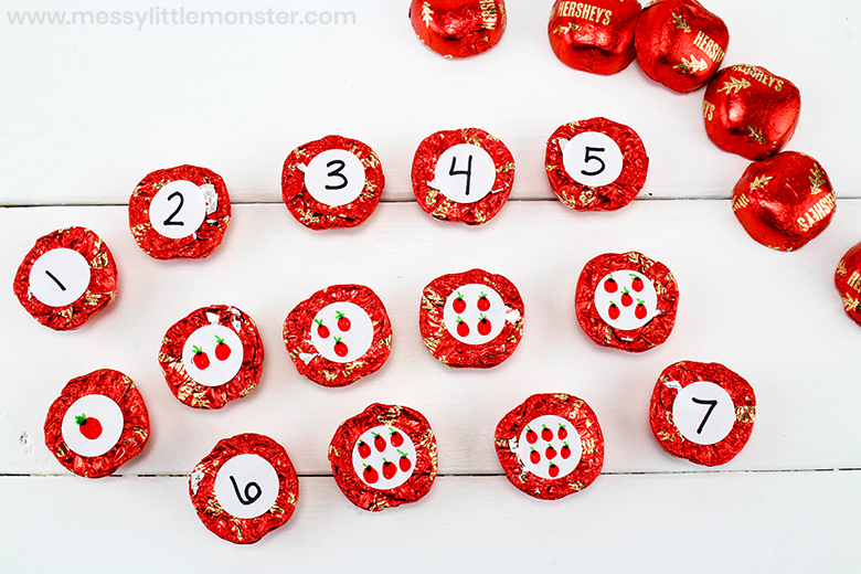 apple theme counting games