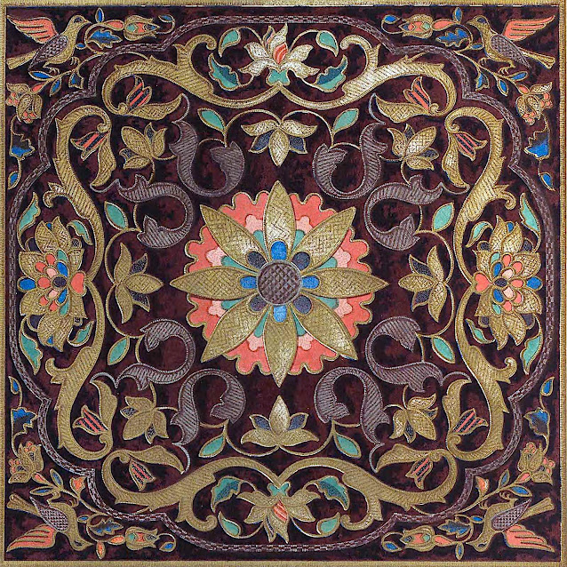 1851 embroidery from Russia, in color
