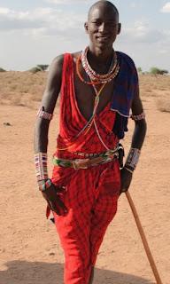 Maasai East Africa Kenya tribes man.