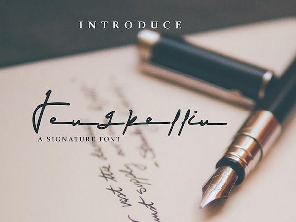 Jengkellin Signature Font Free Download