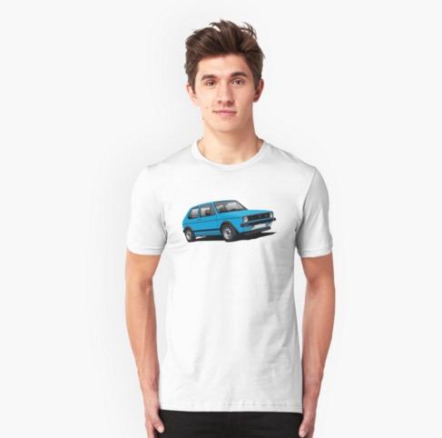 Redbubble VW Golf GTI Mk1 t-shirt