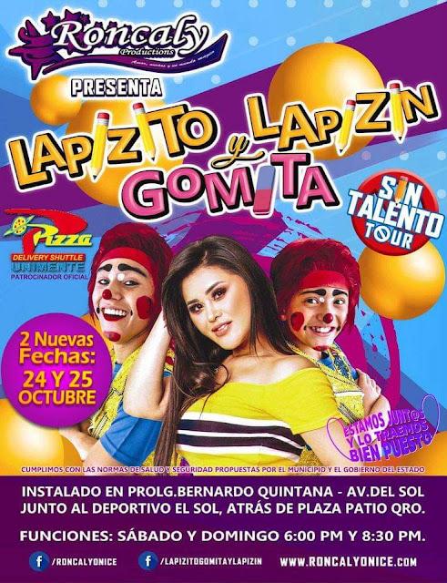 Lapizito , Lapizín y Gomita se presentan con gran éxito en Querétaro y anuncian 2 fechas más