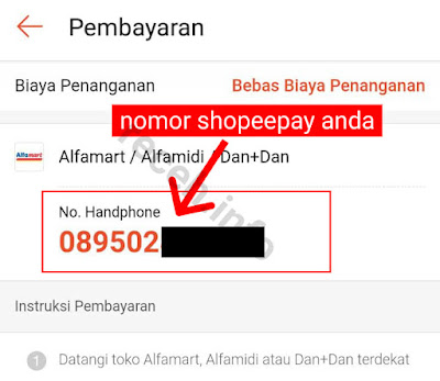 Cara Melihat Nomor Shopeepay kita