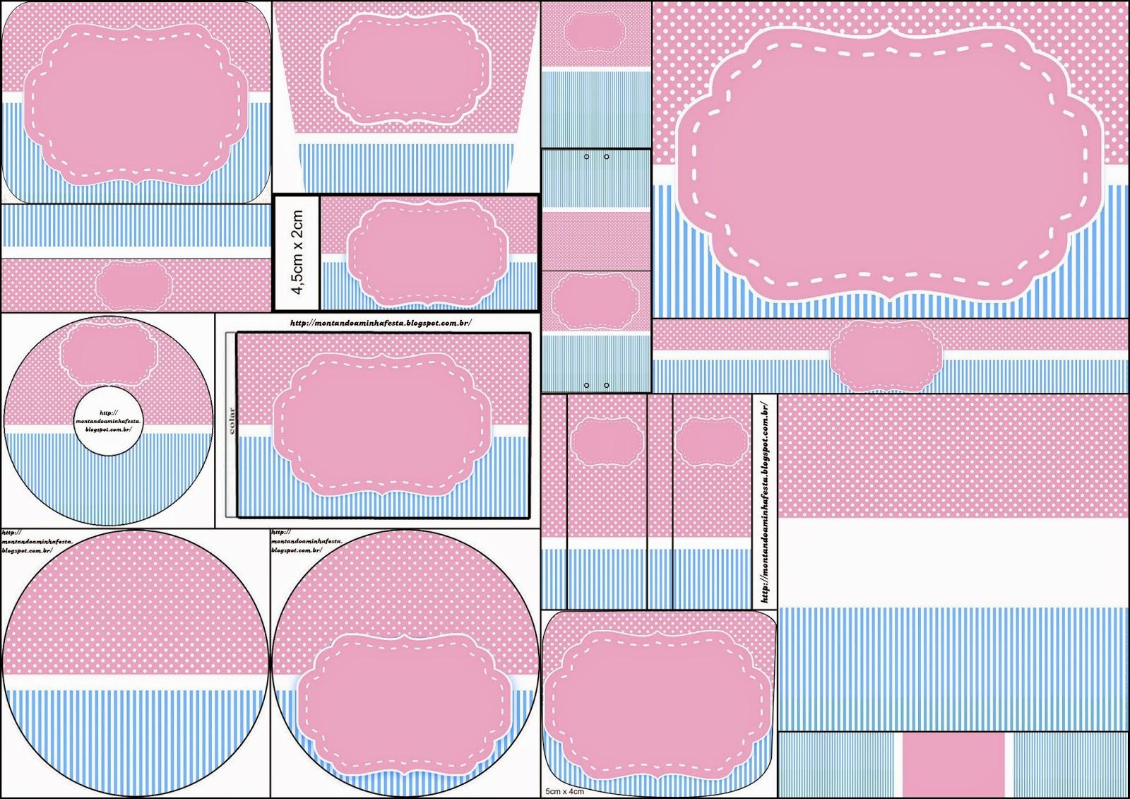 Celeste y Rosado: Etiquetas para Candy Bar para Imprimir Gratis ...