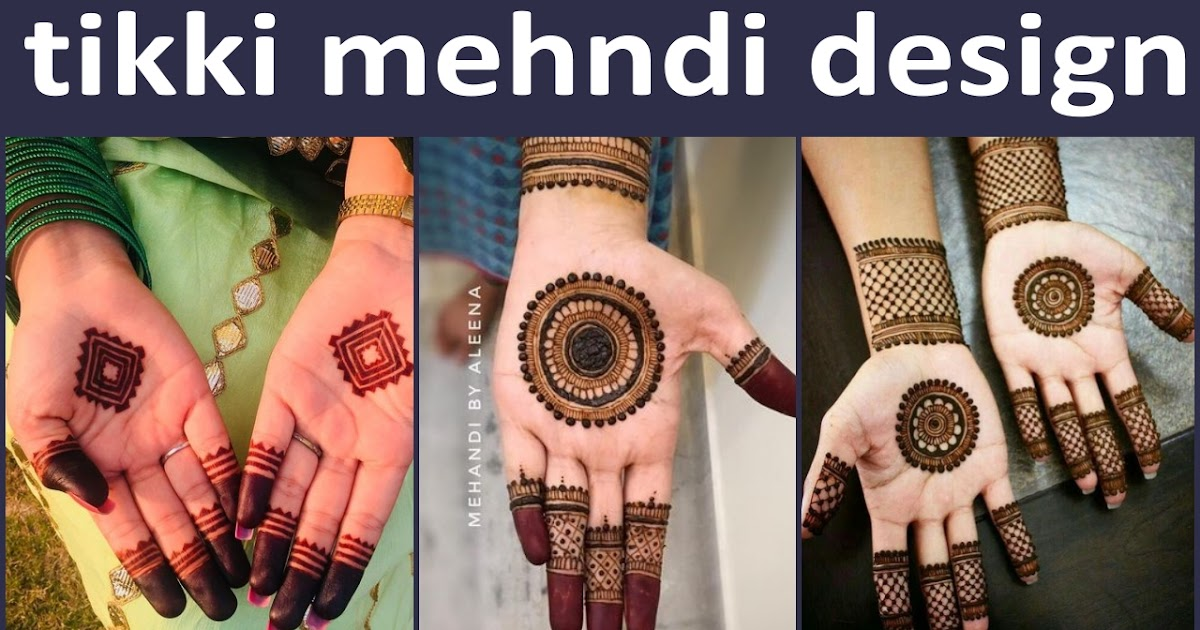 Tikki Mehndi Design 2019 Simple And Easy Tikki Mehndi Design
