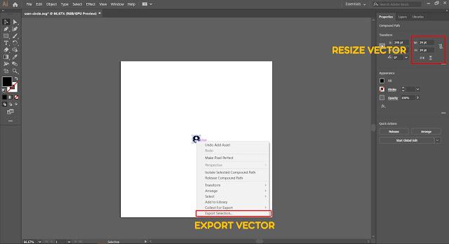 Membuat Drawable Vector FontAwesome Android Studio