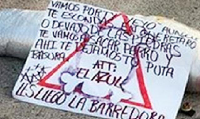 """LES """"LLEGO la BARREDORA"""": DICE el """"AZUL"""" NUEVO JEFE del CARTEL del """"MARRO"""" al CJNG con MENSAJE en CADAVER ENVUELTO"""