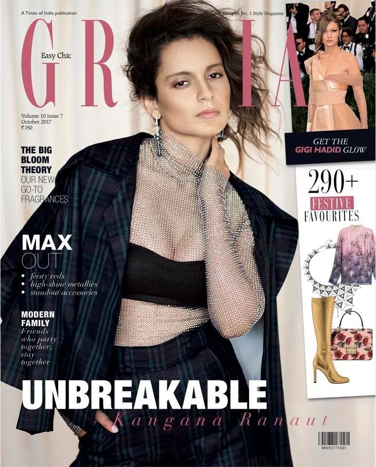 Bollywood Actress Kangana Ranaut Hot Photoshoot - Magazine Covers 2018