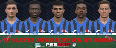 PES 2017 Facepack Atalanta by Eddie Facemaker
