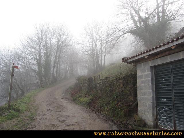 Pico Ranero: Cruce en los depósitos de agua de Carabanzo