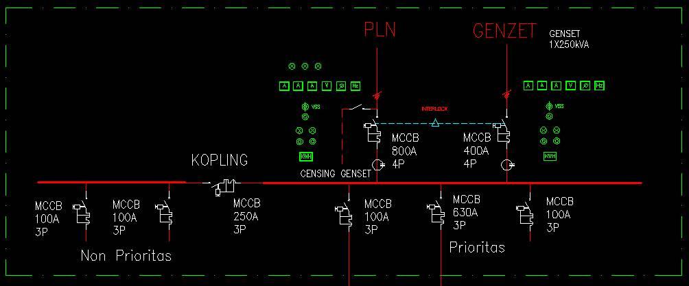 Single Line Diagram Panel Lvmdp on Lighting Wiring Diagrams