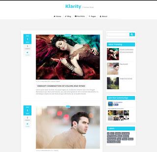 klarity - скачать бесплатно шаблон для blogger blogspot