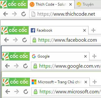 Chuẩn https các website lớn