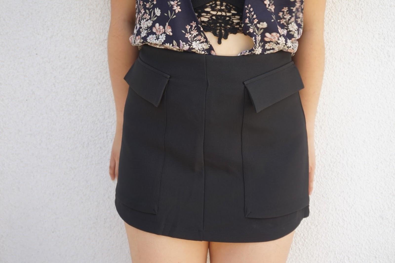 mango a line skirt