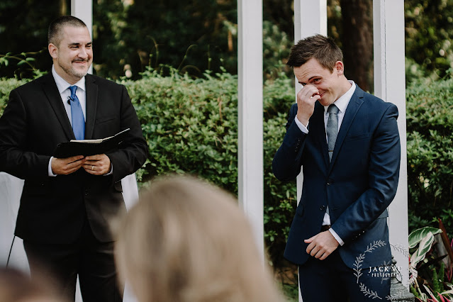 groom reaction to seeing bride down aisle