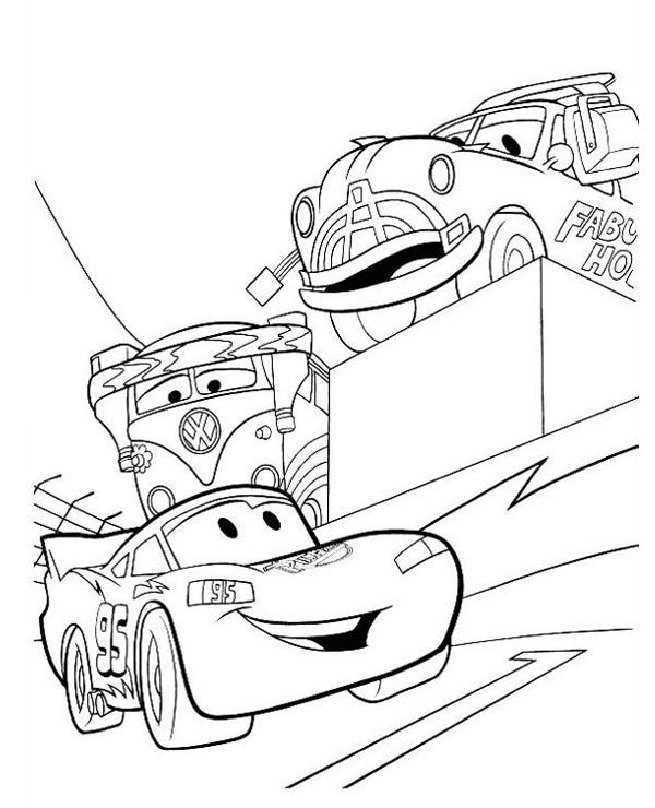 Tranh cho bé tô màu vương quốc xe hơi 09