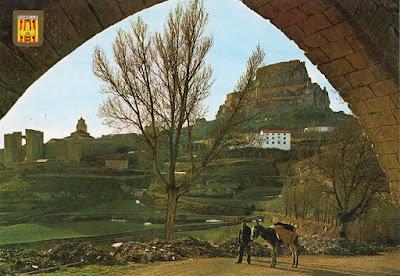 postal, Morella, Castellón, muralla, Castillo