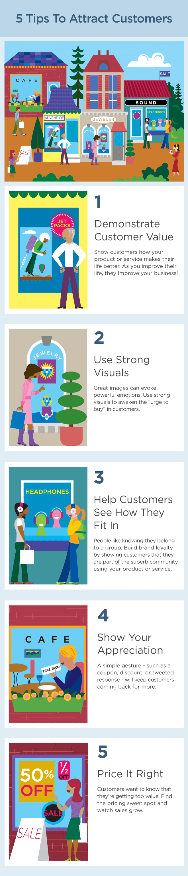 5 Tips to Attract Customers #infographic #Customers #Attract Customers #Business #Tips
