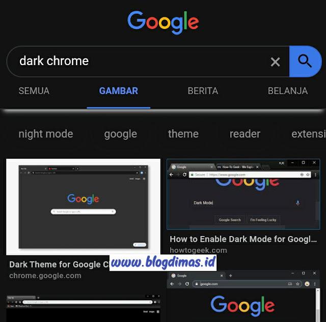 Cara Mengganti Tema Chrome Di Android Menjadi FULL DARK MODE