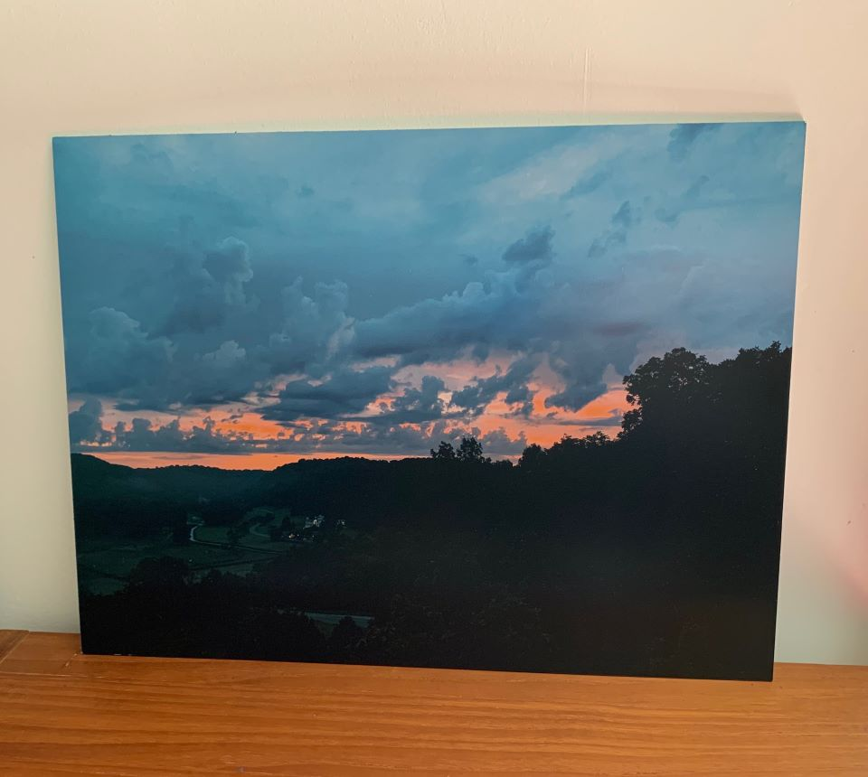 Our Sunrise metal photo print from CanvasDiscount.com #ad