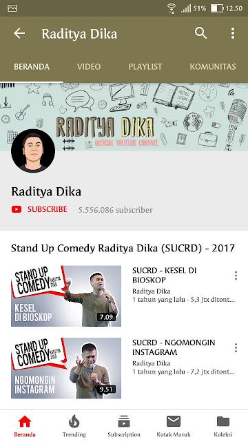 RADITYA DIKA YouTuber Paling Unik