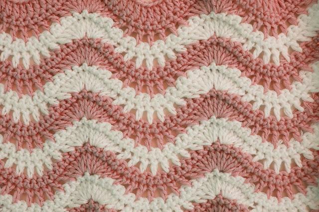 3 - Crochet Puntada ondas combinada a crochet y ganchillo por Majovel Crochet paso a paso