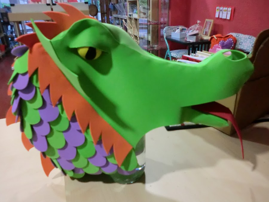 tutorial cabeza de dragon de goma espuma o gomaeva