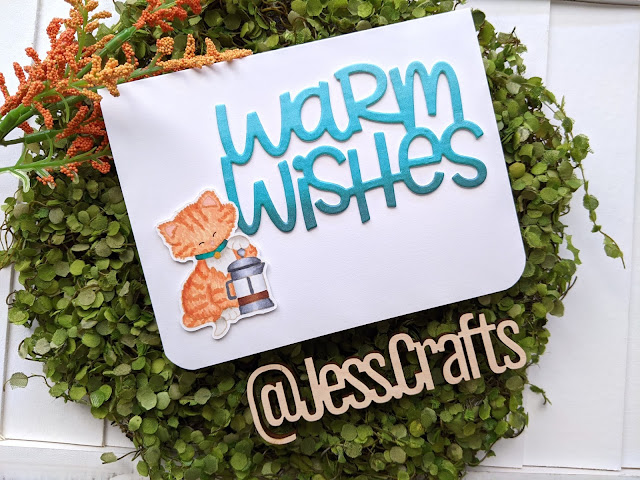 Warm Wishes Coffee Card featuring Newton Loves Coffee and Hello Bluebird Warm Wishes