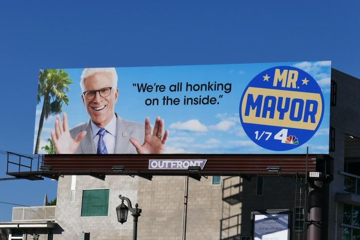 all honking on inside Mr Mayor billboard
