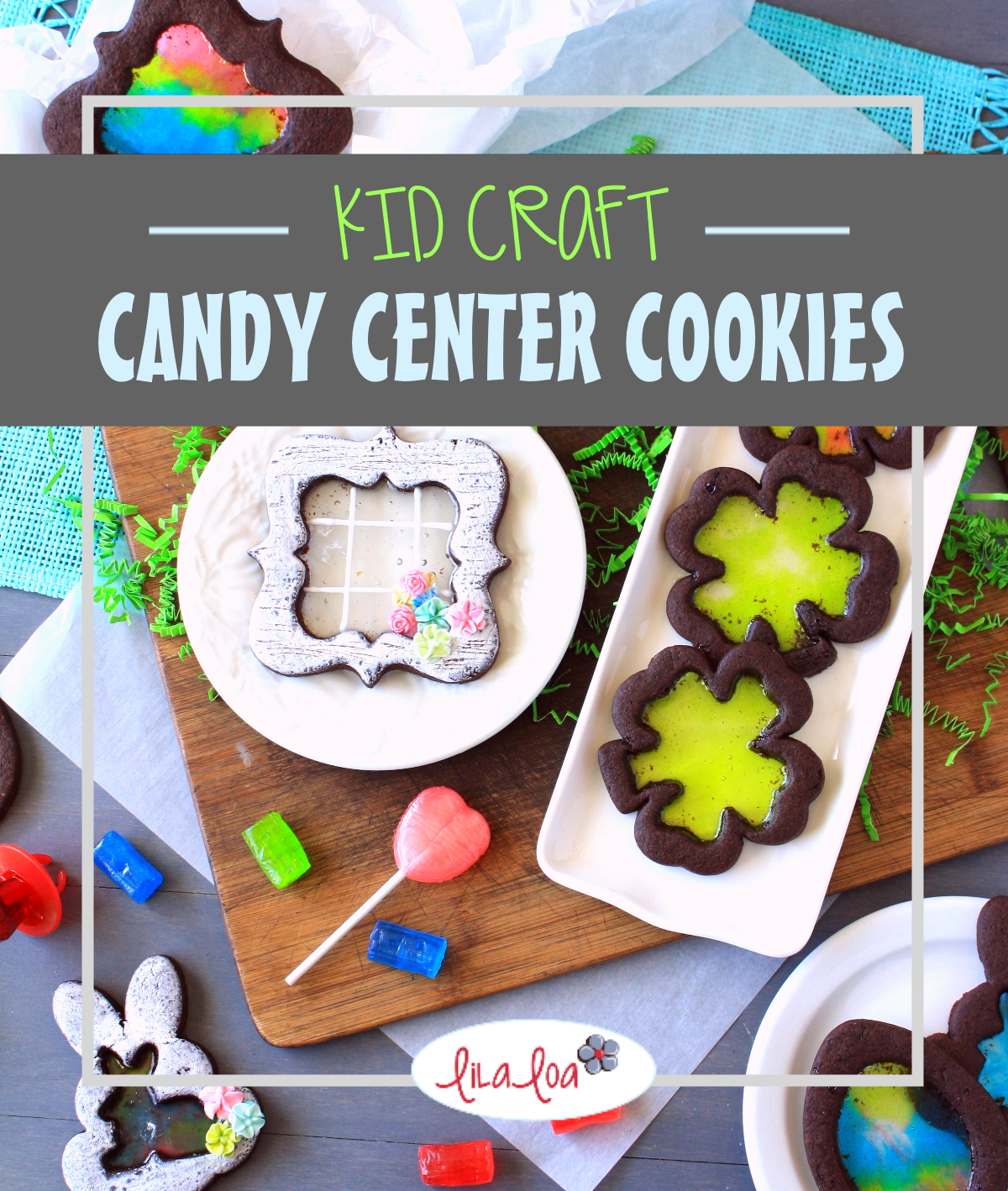 simple and fun crushed candy center cookie project for children and kids