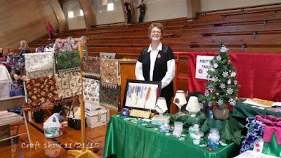 Moundridge Craft Show booth with tatted items from wandasknottythoughts