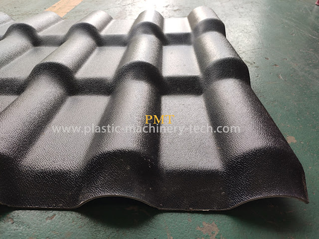 Synthetic resin tile equipment