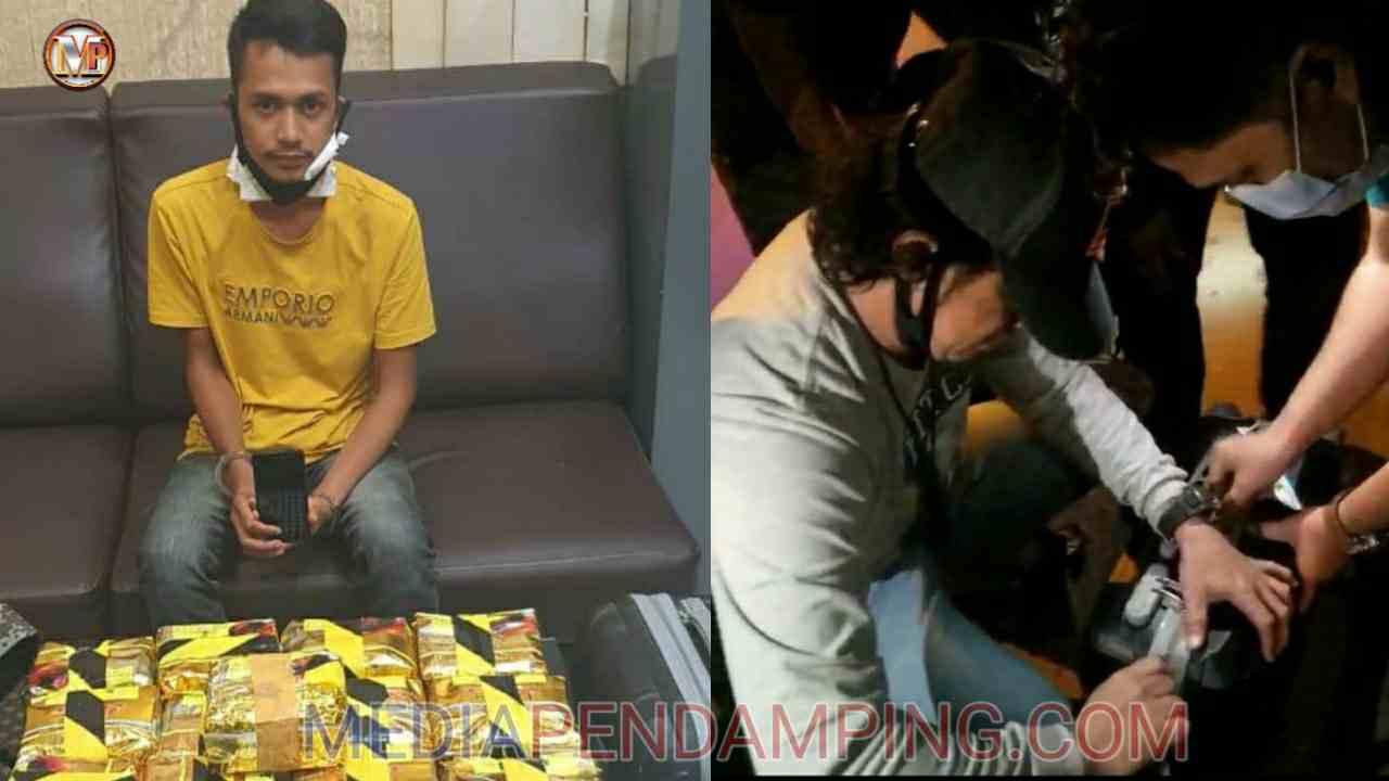 Mantaf..!! Ditresnarkoba Poldasu Berhasil Tangkap Kurir Narkoba Jenis Sabu Seberat 13 Kg