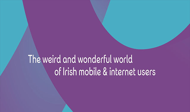 The weird and wonderful world of lrish mobile & internet users #infographic