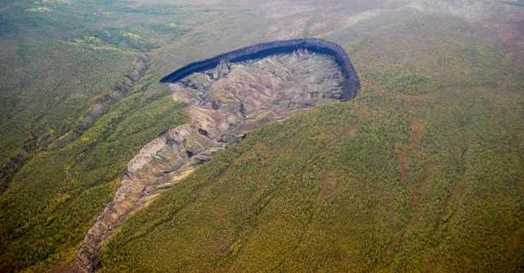 Batagaika Krateri, gölgesi toprağa düşecek ağaçlar olmadığı için zeminin aşırı ısınması sonucu ortaya çıktı.