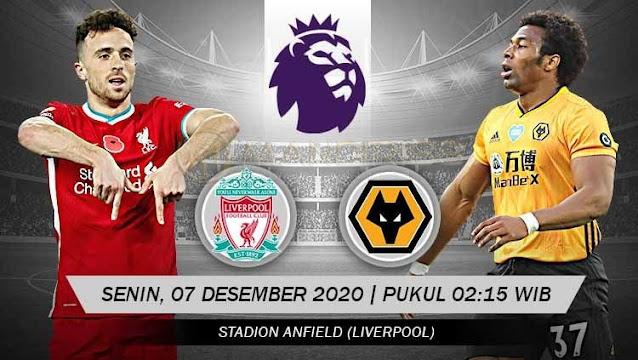 Prediksi Liverpool Vs Wolves, Senin 07 Desember 2020 Pukul 02.15 WIB @ Mola TV