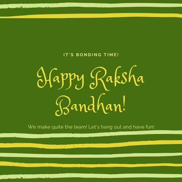 raksha bandhan wishes to sister in law