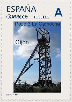 Filatelia, sello personalizado, tu sello, mina, castillete, La Camocha